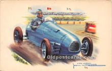 spo020847 - Old Vintage Auto Racing Postcard Post Card
