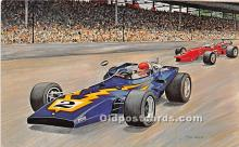 spo020852 - Old Vintage Auto Racing Postcard Post Card