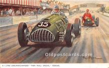 spo020862 - Old Vintage Auto Racing Postcard Post Card