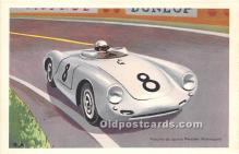 spo020873 - Old Vintage Auto Racing Postcard Post Card