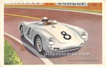 spo020877 - Old Vintage Auto Racing Postcard Post Card
