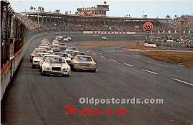 spo020895 - Old Vintage Auto Racing Postcard Post Card
