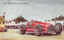 spo020901 - Old Vintage Auto Racing Postcard Post Card