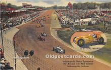 spo020910 - Old Vintage Auto Racing Postcard Post Card