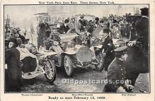spo020913 - Old Vintage Auto Racing Postcard Post Card