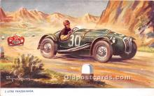 spo020916 - Old Vintage Auto Racing Postcard Post Card