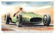 spo020919 - Old Vintage Auto Racing Postcard Post Card