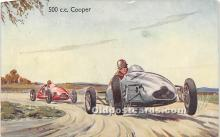 spo020922 - Old Vintage Auto Racing Postcard Post Card
