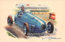 spo020927 - Old Vintage Auto Racing Postcard Post Card