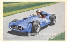 spo020933 - Old Vintage Auto Racing Postcard Post Card