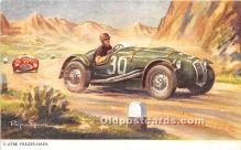 spo020937 - Old Vintage Auto Racing Postcard Post Card