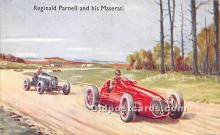 spo020943 - Old Vintage Auto Racing Postcard Post Card