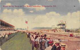 spo020944 - Old Vintage Auto Racing Postcard Post Card