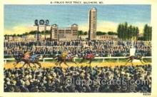 spo021035 - Pimlico Race Track, Baltimore, MD USA Horse Racing Postcard Postcards