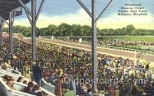 spo021061 - Baltimore Md, USA Horse Racing Postcard Postcards