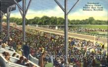 spo021062 - Baltimore Md, USA Horse Racing Postcard Postcards