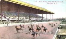 spo021065 - Syracuse, NY USA Horse Racing Postcard Postcards
