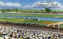 spo021082 - Centennial Park, Denver, CO, USA Horse Racing Trotter, Postcard Postcards