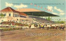 spo021101 - Miami Jockey Club, Hialeah Race Track, Florida USA, Horse Racing, Trotters,  Postcard Postcards