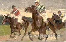 spo021316 - Artist Anton Hoffman, Horse Racing, Trotters,  Postcard Postcards