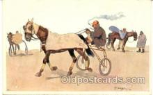 spo021401 - Horse Racing, Trotters,  Postcard Postcards