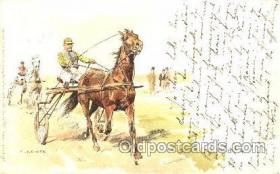 spo021411 - Artist C. Becker, Horse Racing, Trotters, Postcard Postcards
