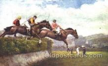 spo021415 - Steeplechasing, Horse Racing, Trotters, Postcard Postcards