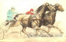 spo021421 - Horse Racing, Trotters, Postcard Postcards
