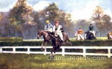 spo021429 - Steeplechasing, Horse Racing, Trotters, Postcard Postcards