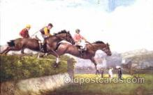 spo021430 - Steeplechasing, Horse Racing, Trotters, Postcard Postcards