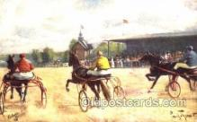 spo021436 - Horse Racing, Trotters, Postcard Postcards
