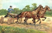 spo021440 - Horse Racing, Trotters, Postcard Postcards