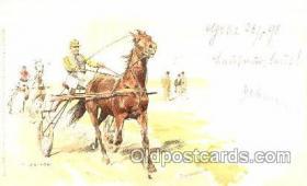 spo021441 - Artist C. Becker, Horse Racing, Trotters, Postcard Postcards