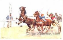 spo021442 - Horse Racing, Trotters, Postcard Postcards