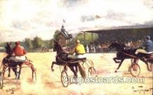 spo021449 - Horse Racing, Trotters, Postcard Postcards