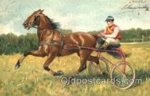spo021450 - Horse Racing, Trotters, Postcard Postcards