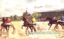 spo021454 - Horse Racing, Trotters, Postcard Postcards