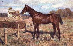 spo021457 - Artist W. Velton, Horse Racing, Trotters, Postcard Postcards