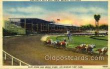 spo021482 - Santa Anita Race Track, Arcadia, California, USA Horse Racing Postcard Postcards
