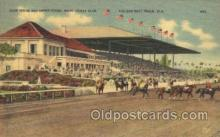 spo021487 - Club House & Grand Station Horse Racing, Trotter, Trotters, Postcard Postcards
