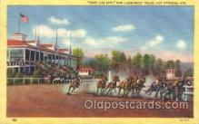 spo021492 - Race Track in Hot Springs Horse Racing, Trotter, Trotters, Postcard Postcards
