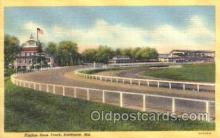 spo021496 - Pimlico Race Track Horse Racing, Trotter, Trotters, Postcard Postcards
