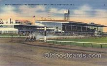 spo021498 - Horse Racing at Narragansett Race Track Horse Racing, Trotter, Trotters, Postcard Postcards