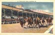 spo021507 - Pimlico Race Track Horse Racing, Trotter, Trotters, Postcard Postcards