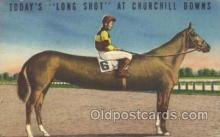 spo021510 - Long Shot at Churchill Downs Horse Racing, Trotter, Trotters, Postcard Postcards