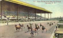 spo021513 - State Fair Grounds Horse Racing, Trotter, Trotters, Postcard Postcards