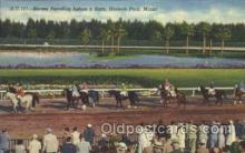 spo021527 - Hialeah Park, Miami, USA Horse Racing Postcard Postcards