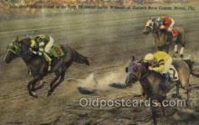 spo021542 - Miami, FL USA Horse Racing Old Vintage Antique Postcard Post Cards