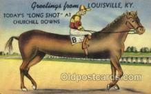 spo021543 - Churchill Downs,  Louisville, KY USA Horse Racing Old Vintage Antique Postcard Post Cards