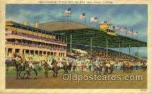 spo021549 - Miami, FL USA Horse Racing Old Vintage Antique Postcard Post Cards
